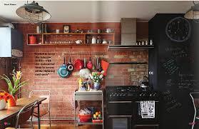 cuisine avec brique idées de conception des murs de cuisine en briques