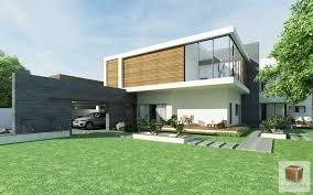 3d rendering kanal house modern contemporary minimalism