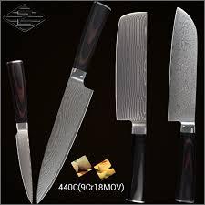 bonne marque de couteau de cuisine xyj marque bonne qualité damas couteaux de cuisine ensemble 4 5