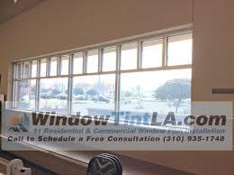 security window film in silver triangle area of venice window