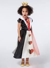 fancy dress girls multicoloured disney queen of hearts costume 3