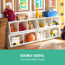 Toybox With Bookshelf Free Shipping Kids Toy Box Storage Cabinet Stackable Bookcase Rack