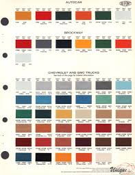 autocar paint chart color reference