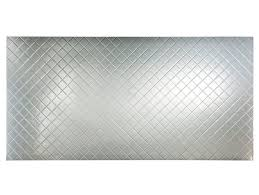 Fasade Quilted  X  PVC Backsplash Panel In Brushed Aluminum - Pvc backsplash