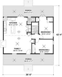 cottage beds baths sqft plan main floor home design small beach