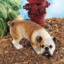 good dog gone bad bulldog statue ql6324 design toscano