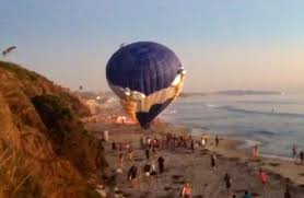 san diego balloon delivery unforgettable marriage hot air balloon lands in