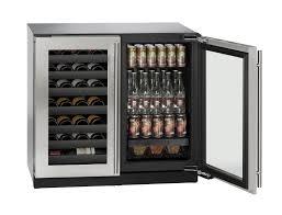 kitchen smart under kitchen island beverage center with double