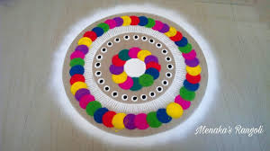 color rangoli design for diwali