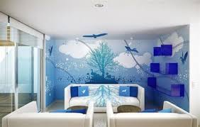 beautiful wall painting designs for living room as artistic