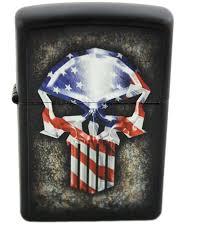 American Flag Awesome Zippo American Flag Punisher Skull Custom Zippo Windproof