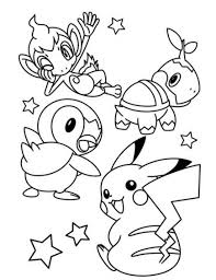 pikachu coloring pages wearing hat coloringstar