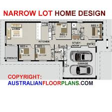 159m2 4 bed 2 bath narrow lot study nook by australianhouseplans