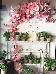 flowers decoration at home backdrops for weddings backdrop wedding paper flower decoration