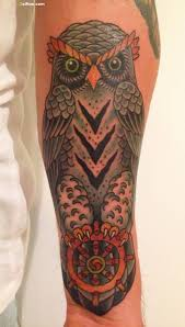 elegant animated owl tattoo design golfian com