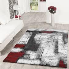Wohnzimmer Grau Creme Designer Teppich Olympia Meliert Schattiert Geometrische Muster