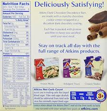amazon com atkins snack bar dark chocolate decadence 5 bars
