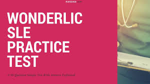 wonderlic sle practice questions youtube