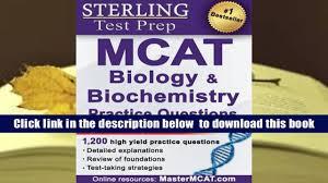 download sterling mcat biology biochemistry practice questions