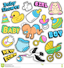 stork baby shower decorations new born baby stickers patches badges scrapbook baby shower