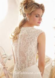 wedding dress lace back and sleeves mermaid v neck cap sleeve see through back tulle lace beaded