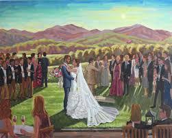 Holy Comforter Church Charlottesville Va Live Wedding Painting Charlottesville Va U2014 Wed On Canvas Live