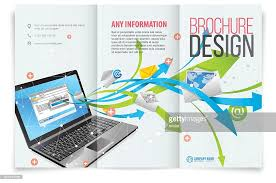brochure design software tri fold brochure design vector getty images