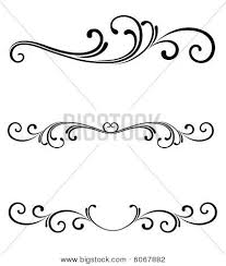 scrollwork design quilling vector stock ornament