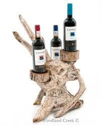 driftwood wine bottle holders root wine rack organic wine holder