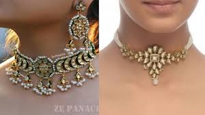 choker necklace jewelry images Kundan choker necklace set design beautiful traditional choker jpg