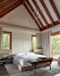 cathedral ceiling bedroom decorating ideas with wooden