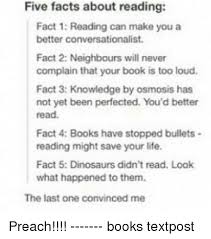 five facts about reading fact 1 reading can make you a better