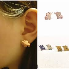 top earing 2017 top selling gold silver gold copper elephant
