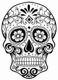 printable coloring pages sugar skulls coloring pages for grown ups free coloring printable sugar skull