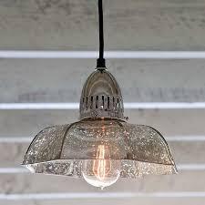 vintage glass pendant light must have regina andrew antique mercury glass candy dish pendant
