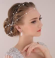 wedding headdress aliexpress buy pearl chain headdress ornaments wedding