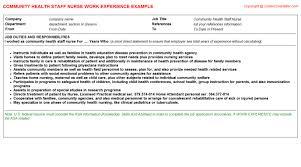 Community Health Nurse Resume Community Health Staff Nurse Job Title Docs