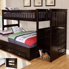bunk bed stairs awesome wooden with wood twin over full twin over full bunk bed installation modern bedding wood with desk pictu
