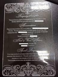 acrylic wedding invitations acrylic invitations