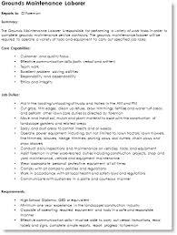 Sample Resume For Landscaping Laborer by Landscape Job Description Outdoor Goods