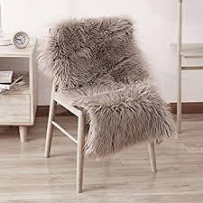 fur chair cover leevan sheepskin rug faux fur rug supersoft fluffy