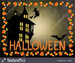 Halloween Card Invitation Illustration Of Halloween Candy Corn Frame Spooky