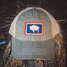 grey trucker hat vintage buffalo flag cap buffalo jackson