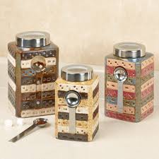 country kitchen canisters sets best ideas of kitchen canisters set of 3 country kitchen