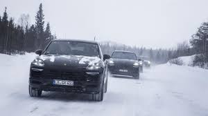 porsche with christmas tree 2019 porsche cayenne completes endurance testing after 2 7m miles