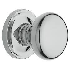 shop baldwin estate classic polished chrome round passage door