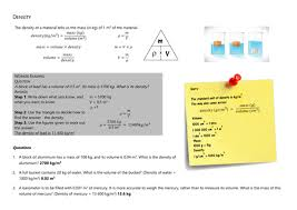 density calculations by jlmorgan100 teaching resources tes