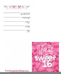 sweet 16 printable invitations disneyforever hd invitation