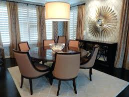 deluxe black round marble dining table and leather upholstered