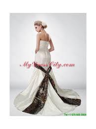 multi color wedding dress beautiful mermaid sweetheart multi color camo wedding dresses